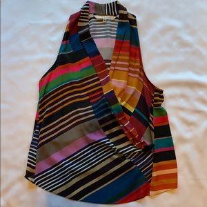 Trina Turk sleeveless multi-colored top